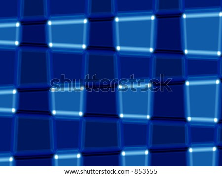 Abstract of blue blocks