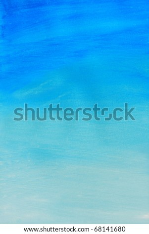 Abstract of blue watercolor painted background. - stock photo