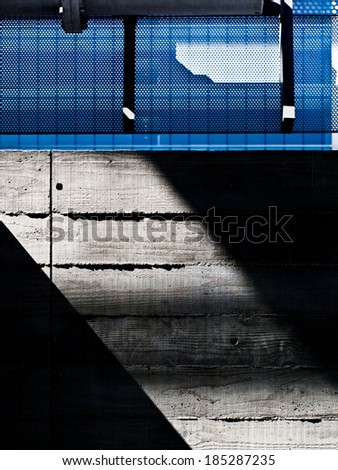 abstract of building in Los Angeles  - stock photo