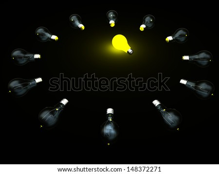 Abstract of bulbs light for adv or others purpose use - stock photo