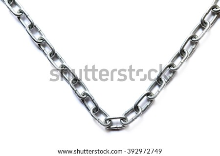 Abstract of chains on white background