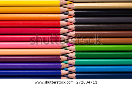 Abstract of color pencil. It is beautiful background. - stock photo