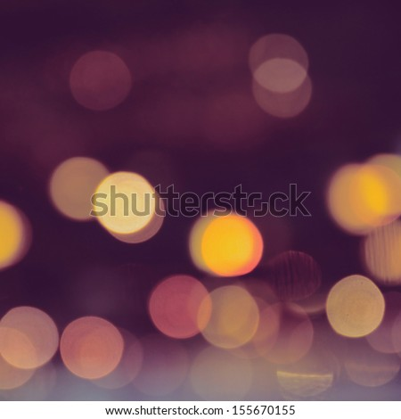 Abstract of delightful bokeh background with filter effect - stock photo