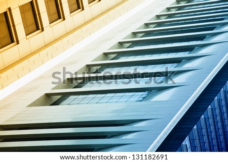 Abstract of dubai skyscrapers - stock photo