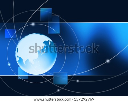 Abstract of earth with global connection - stock photo