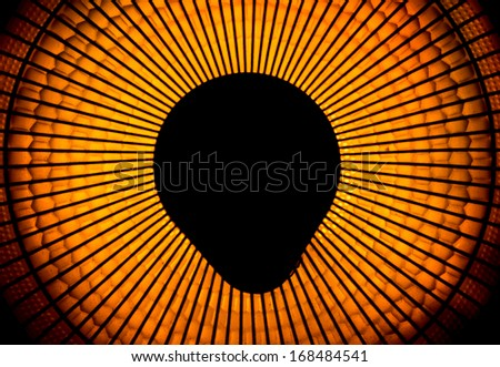 abstract of electric heater  close up. - stock photo