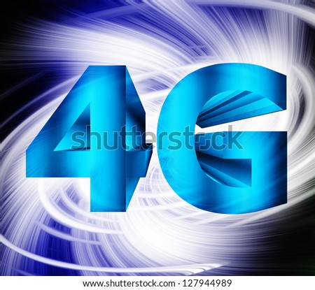 abstract of 4G network symbol
