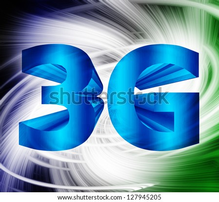 abstract of 3G network symbol - stock photo