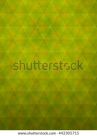 Abstract of Geometric and pentagon, green yellow, polygon style for background - stock photo