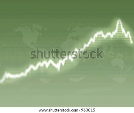 Abstract of good global economy - stock photo