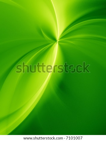 Abstract of green texture background - Green curves - stock photo