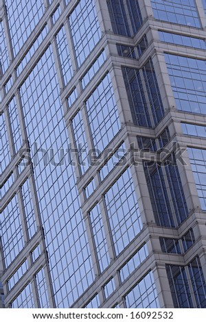 Abstract of highrise building windows