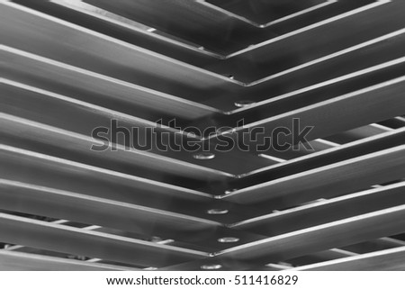 abstract of metal corner for background used