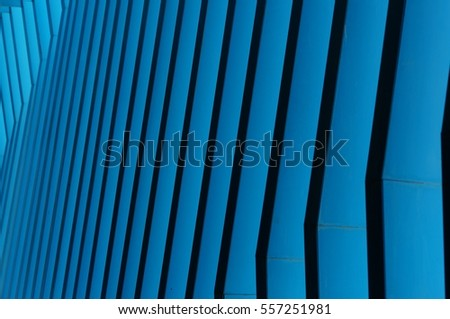 Abstract of metal grid structure shaped architectural composition