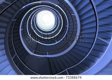 Abstract of modern architrecture based on shapes of Nature - stock photo