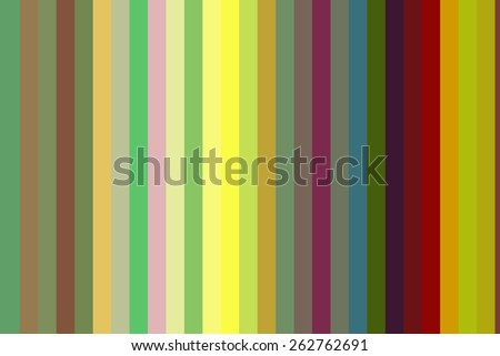 Abstract of parallelism with solid stripes of various colors