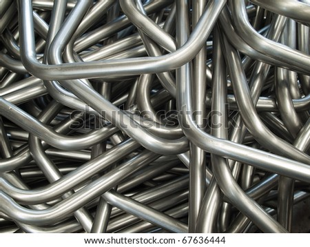 Abstract of Pipe bending forming for use in directors furniture - stock photo