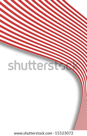 abstract of red and white stripe pattern - stock photo