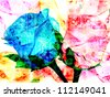 Abstract of roses technology background - stock photo