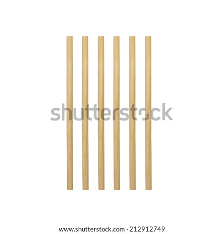 Abstract of round wood stick isolated on white background - stock photo