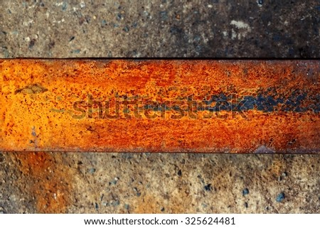 abstract of rust on metal texture for background used
