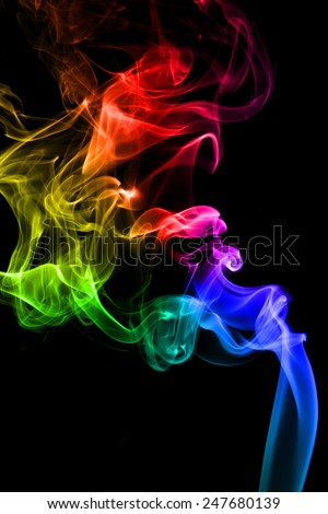 Abstract of smoke on black. - stock photo