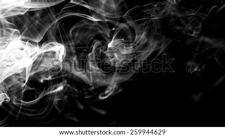 Abstract of smoke on black background. - stock photo