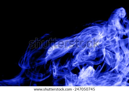 abstract of smoke on black background,Shaped like a tiger. - stock photo