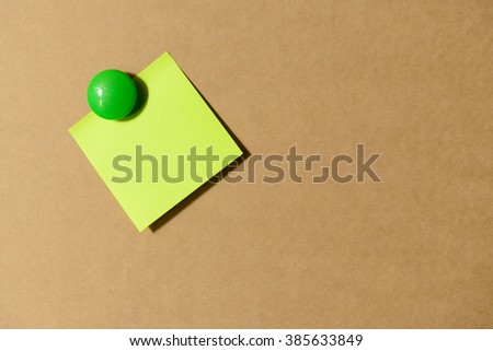 Abstract of stick paper on brown Paper Background