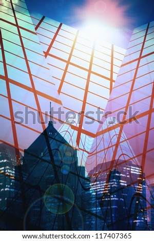 abstract of the city - stock photo