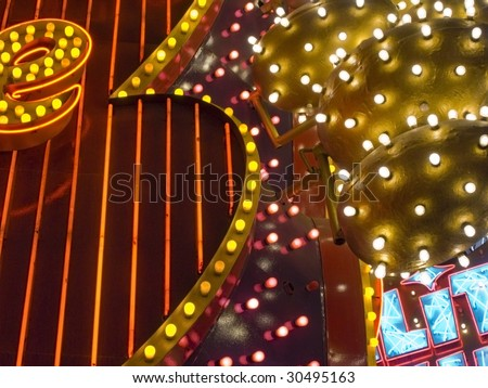 abstract of various colorful signs - stock photo