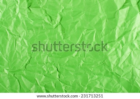 Abstract of wrinkled green paper - stock photo