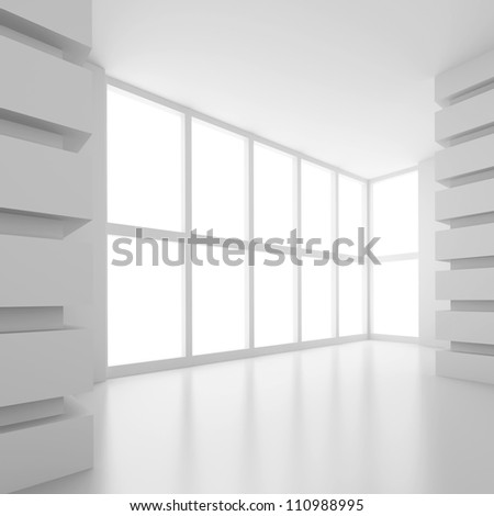 Abstract Office Room - stock photo