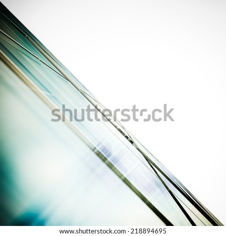 Abstract office white isolated. Building design and 3d model my own - stock photo