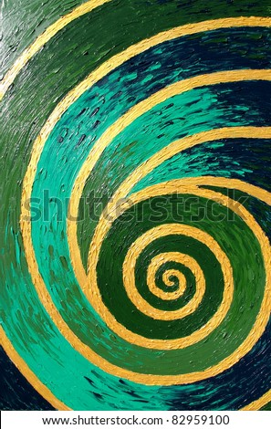 abstract oil background, original painting - stock photo