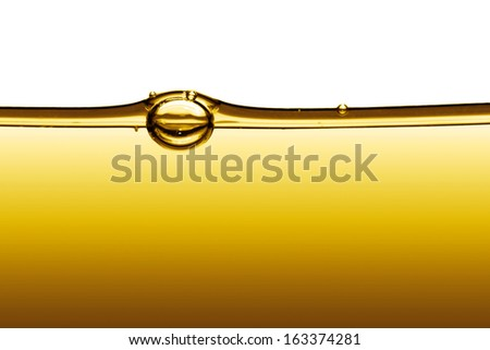 abstract oil on a white background - stock photo