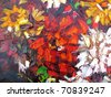 abstract oil painting - stock photo