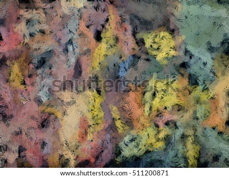 Abstract oil painting background.  Color texture. Fragment of artwork. Brushstrokes of paint. Modern art.