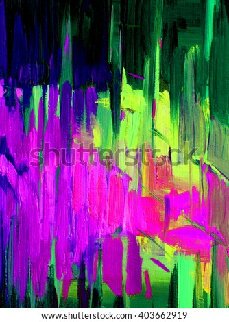 abstract oil painting on canvas for interior, pattern, fund, patron - stock photo