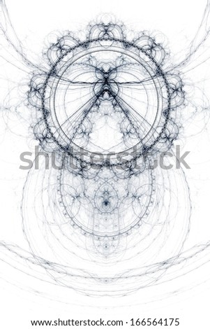 Abstract old alchemical symbols theme, violet over white background - stock photo