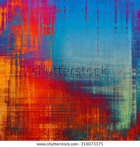 Abstract old background or faded grunge texture. With different color patterns: blue; purple (violet); red (orange); cyan - stock photo