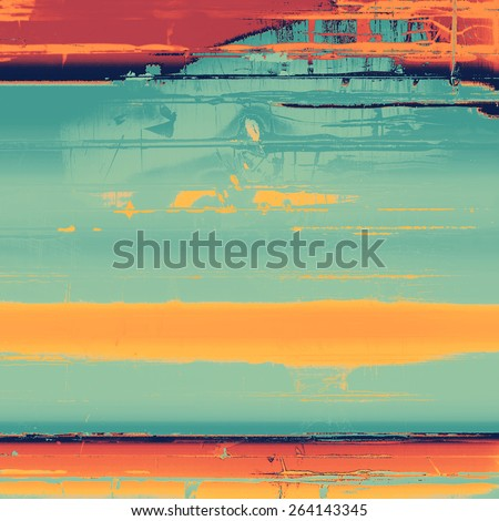Abstract old background or faded grunge texture. With different color patterns: yellow (beige); cyan; blue - stock photo
