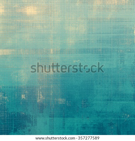 Abstract old background or faded grunge texture. With different color patterns: yellow (beige); blue; cyan - stock photo