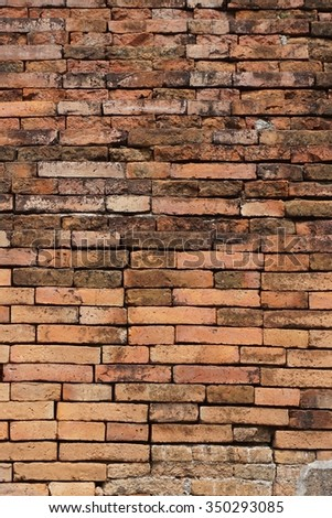 abstract old brick wall for background used