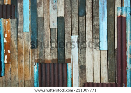 Abstract old wooden walls background
