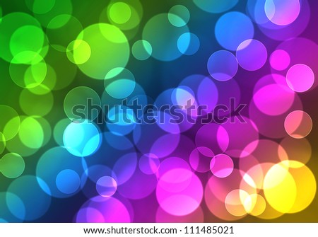 Abstract on a colorful background digital bokeh effect - stock photo