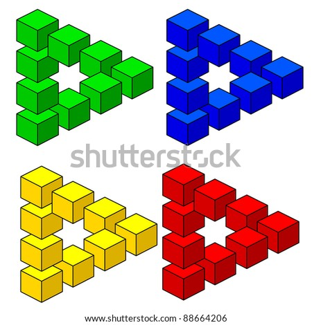 abstract optical illusion - stock photo