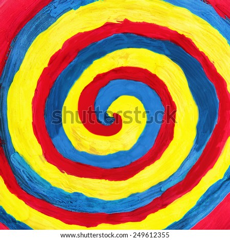Abstract optical illusion background of colorful paint - stock photo