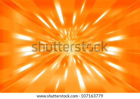 abstract orange and yellow sunshine background.