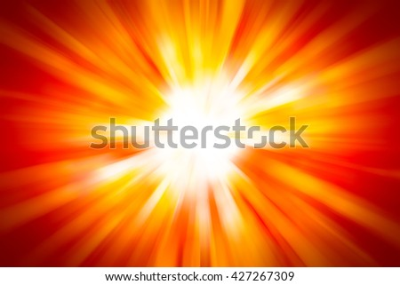 abstract orange background. bokeh abstract light background. Summer background with a magnificent sun burst with lens flare. Hot with space for your message. rays sunrise background